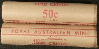 1978 1c royal Australian mint roll x 1 roll multiples available