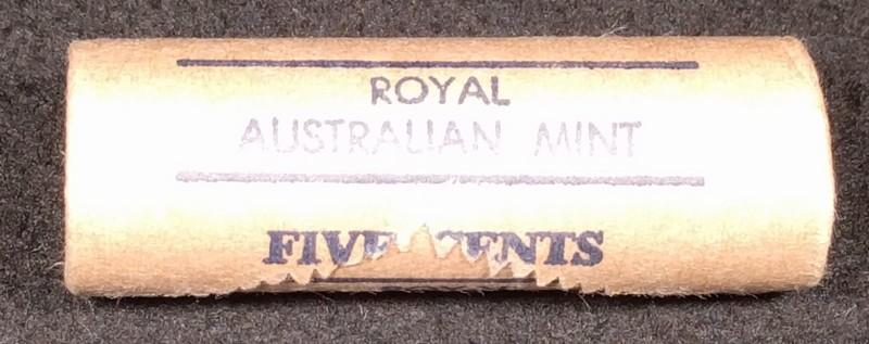 1982 5c royal Australian mint roll