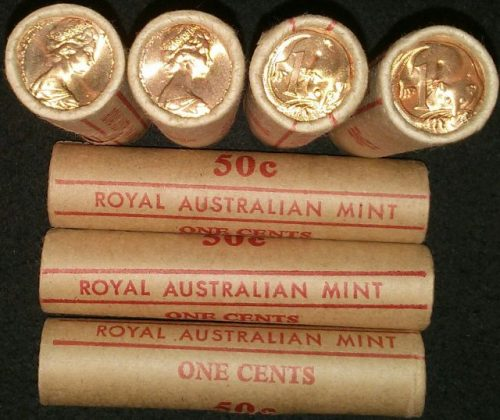 1983 1c royal Australian mint roll x 1 roll multiples available