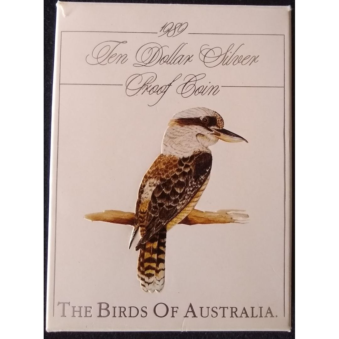 1989 10 Silver Proof Kookaburra The Birds Of Australia