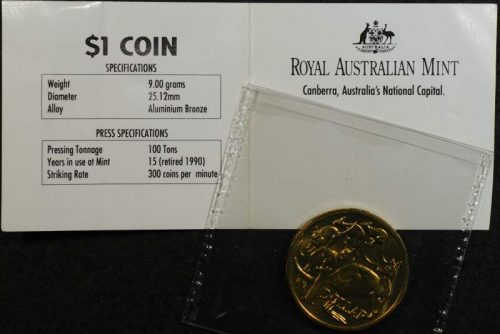 1991 mob of roos dollar mint your own gallery press with original satchel and ram building card