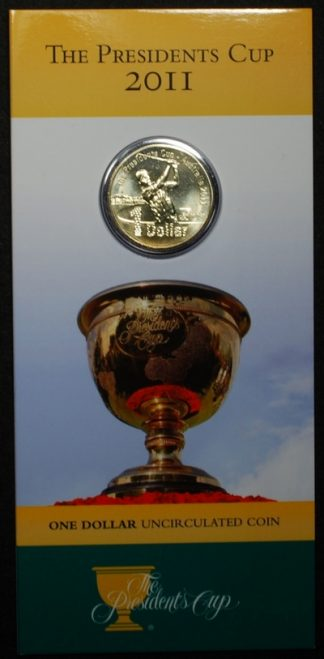 2011 the presidents cup one dollar in card of issue