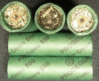 2015 2 remembrance 2 dollar orange coloured prosegur roll x 1 roll multiples available