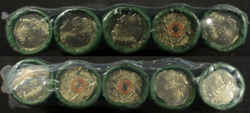 2015 2 remembrance 2 dollar orange coloured prosegur rolls x 10 sealed pack
