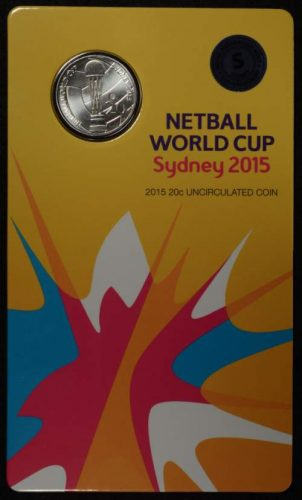 2015 netball world cup sydney s counterstamp 20c