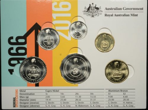 2016 50 years of decimal currency the changeover circulating coin folder w coins