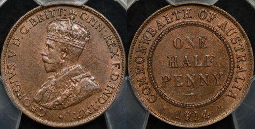PCGS Graded Australian Halfpennies For Sale - The Purple Penny