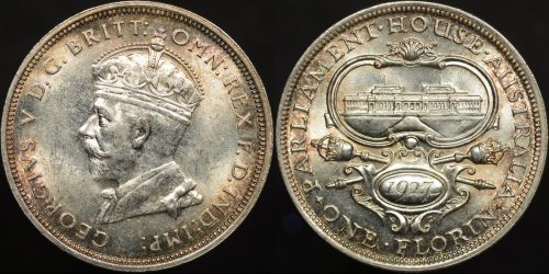 Australia 1927 canberra florin 2s about ef