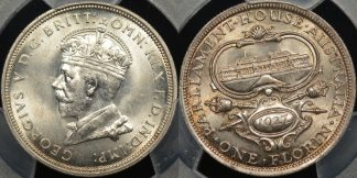 Australia 1927 parliament florin Choice Uncirculated PCGS MS63