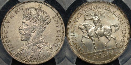 Australia 1934 35 2s centennial PCGS MS65 3