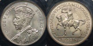 Australia 1934 35 melbourne centenary florin 2s GEM Uncirculated PCGS MS65