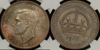 Australia 1937 crown 5s Uncirculated NGC MS63