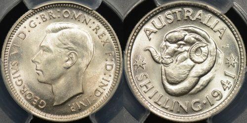 Australia 1941 1s PCGS MS64