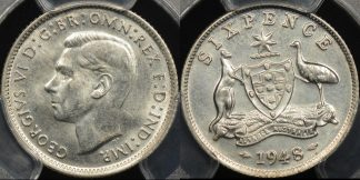 Australia 1948m sixpence 6d Choice Uncirculated PCGS MS64
