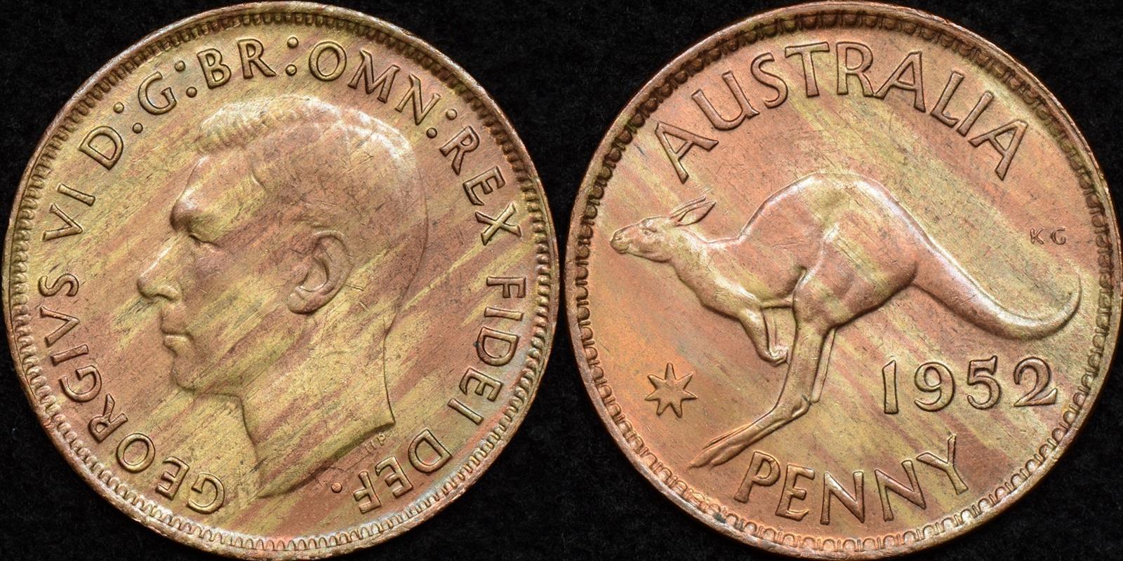 Australia 1952m penny Uncirculated