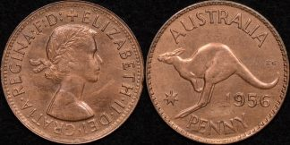 Australia 1956m penny UNC