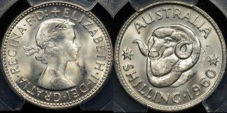 Australia 1960 shilling 1s GEM Uncirculated PCGS MS65