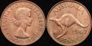Australia 1962y penny 1d Choice Uncirculated