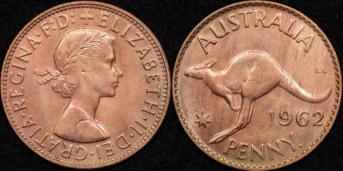 Australia 1962y penny 1d Choice Uncirculated