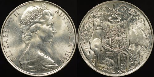 Australia 1966 50c round