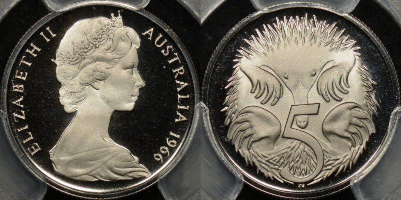 Australia 1966 5c PR68dcam