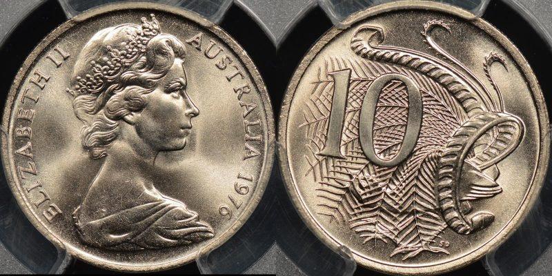 Australia 1976 10 cent GEM Uncirculated PCGS MS66