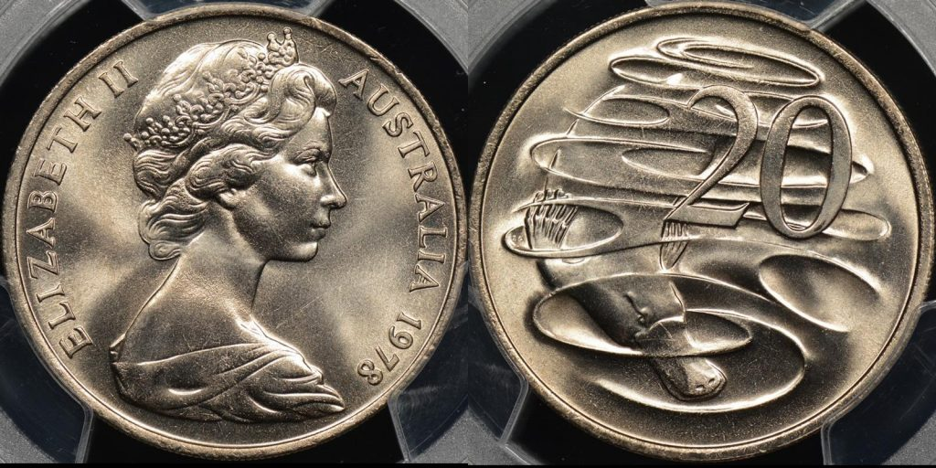 Australia 1978 20 cent GEM Uncirculated PCGS MS65