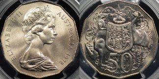 Australia 1978 50 cent GEM Uncirculated PCGS MS65