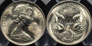 Australia 1981 5 cent GEM Uncirculated PCGS MS65