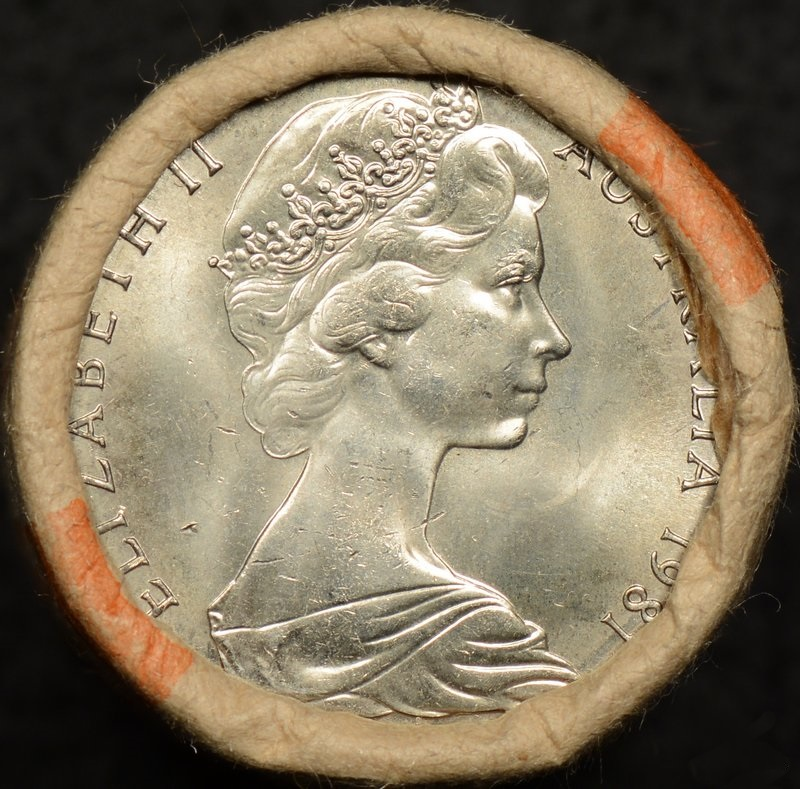 1981 Charles and Diana Royal Wedding 50 Cent Reserve Bank Roll