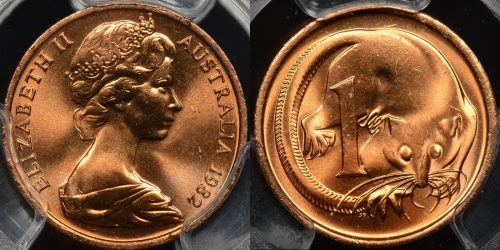 Australia 1982 1 cent GEM Uncirculated PCGS MS65rd