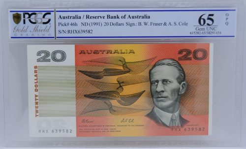 1991 $20 Note Fraser//Cole R413 Uncirculated