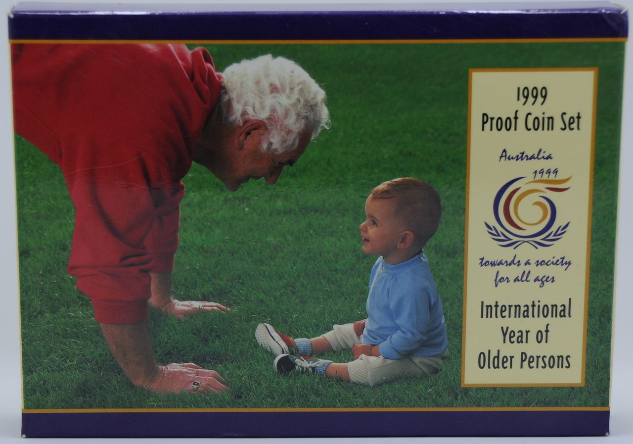 1999 AUSTRALIA PROOF COIN SET QUALITY INTERNATIONAL YEAR OF OLDER PERSONS
