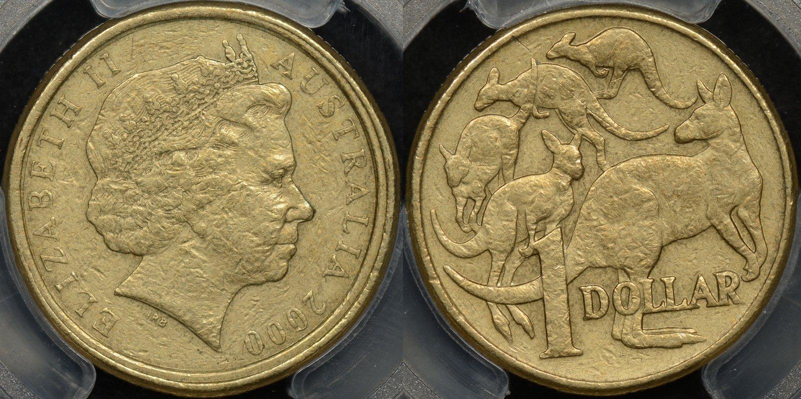 Australia 2000 $1/10c Mule Error Genuine XF Details PCGS