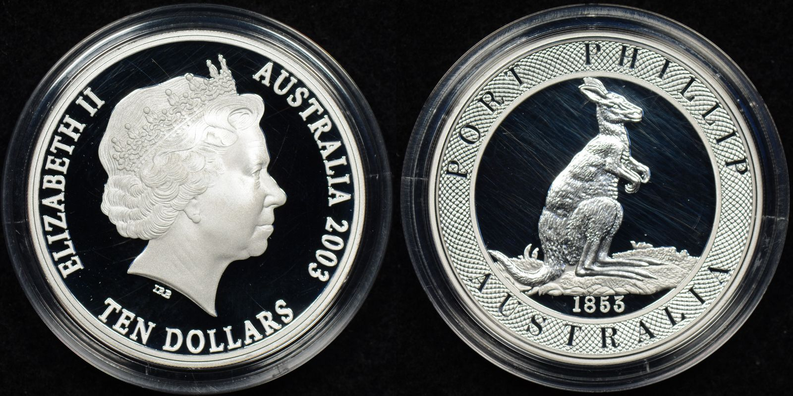 2003 10 Silver Port Phillip Taylor Pattern Coin The
