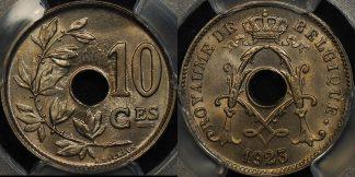 Belgium 1923 10 centimes km 85.1 PCGS MS65 GEM Uncirculated