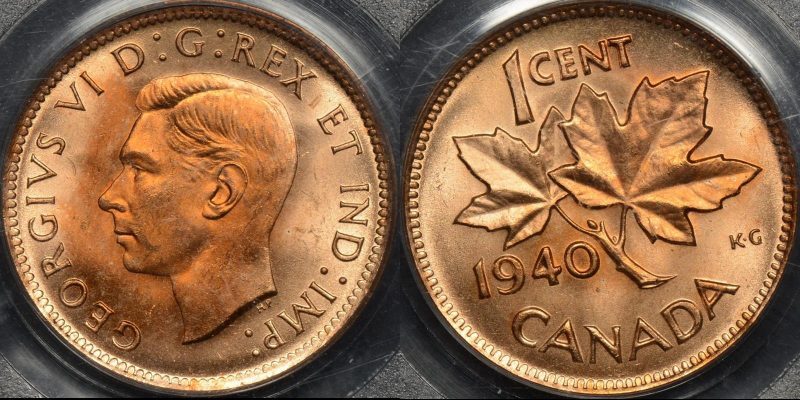 Canada 1940 cent 1c km 32 PCGS MS64rd red Choice Uncirculated