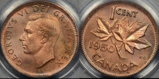 Canada 1950 cent 1c km 41 PCGS MS64rb Choice Uncirculated