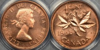 Canada 1958 cent 1c km 49 PCGS MS64rd red Choice Uncirculated