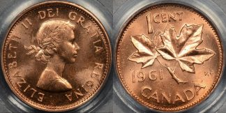 Canada 1961 cent 1c km 49 PCGS MS64rd red Choice Uncirculated