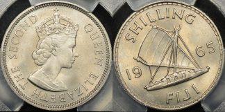 Fiji 1965 shilling 1s km 23 PCGS MS66 GEM Uncirculated