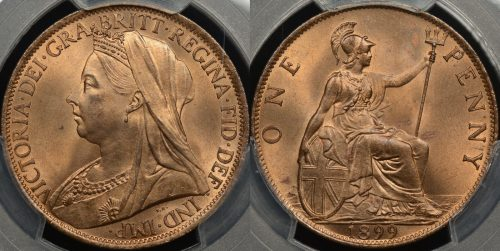Great britain 1899 1d PCGS MS65rd