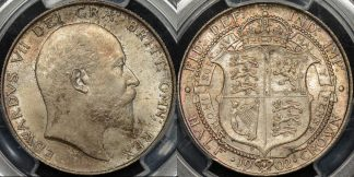 Great britain 1902 half crown 1 2 cr km 802 PCGS MS64 Choice Uncirculated