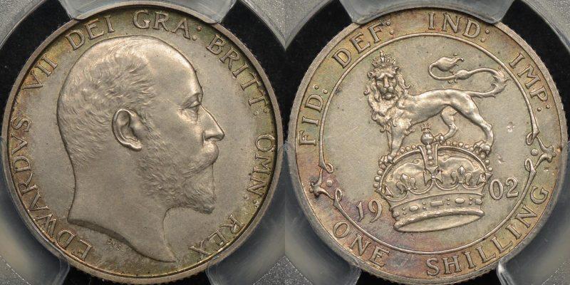 Great britain 1902 shilling 1s km 800 PCGS PR62 matte proof