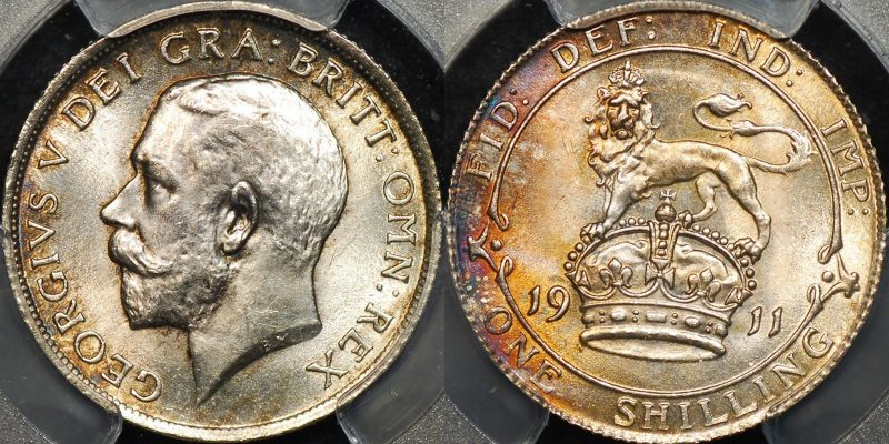 Great britain 1911 shilling 1s km 816 PCGS MS64 Choice Uncirculated