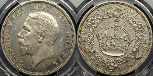 Great britain 1927 crown 5s km 836 PCGS PR62 proof
