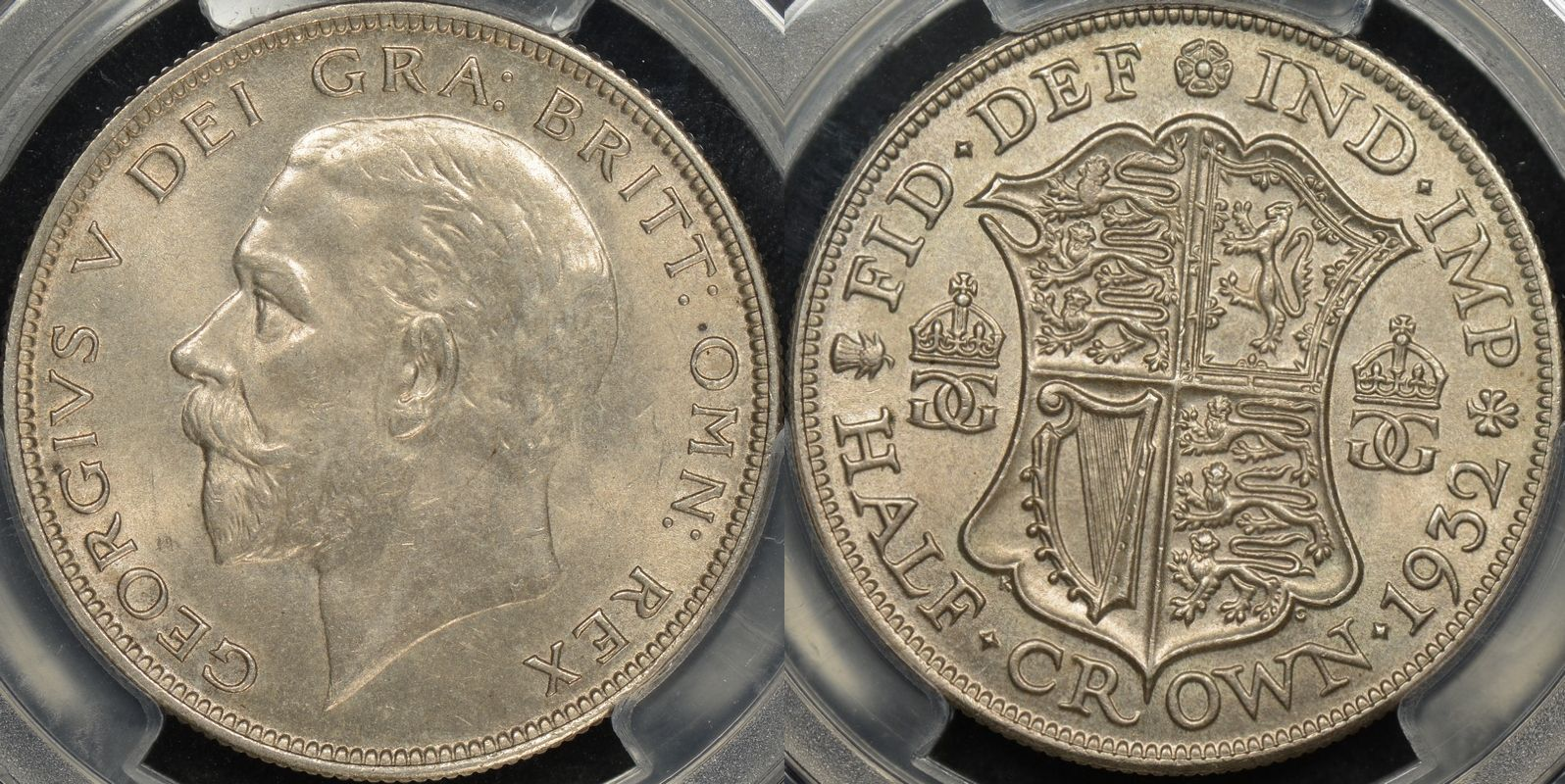 Great britain 1932 half crown 1 2 cr km 835 PCGS MS64 Choice Uncirculated