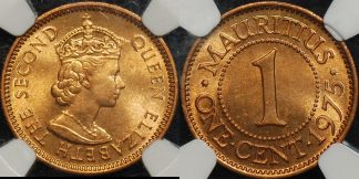 Mauritius 1975 one cent 1c km 31 NGC MS64rd Choice Uncirculated