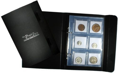 new 8 page mini coin album non pvc 48 pocket secure and portable wallet design with safety flap pages