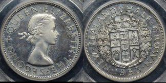 New zealand 1953 half crown 5s PCGS PR64 proof